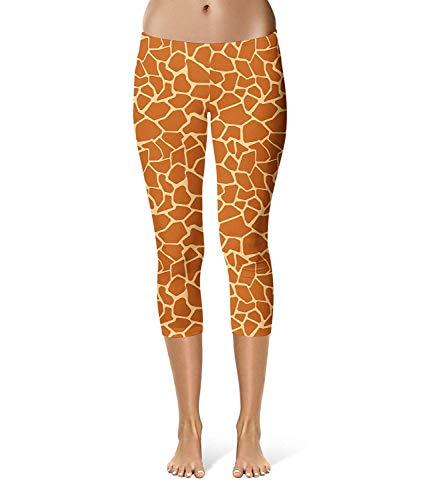 Leggings Stampa Attillati Moda Pantaloni Elasticizzati Donna Con Ragazza Giraffa E Alla Chic Colour Da nPYYTqpw0