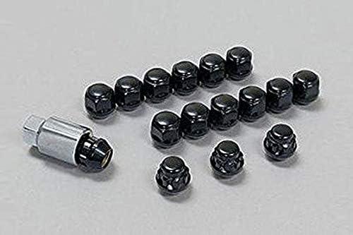 無限 アルミホイール MDS用 ホイールナット&ロックナットセット 4H ブラック N-BOXカスタム JF1 JF2 12/12~13/12