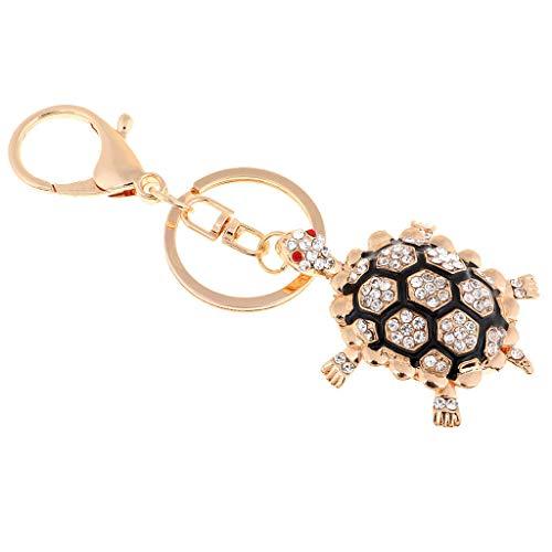 NATFUR Lovely Tortoise Key Chain Rhinestone Animal Key Ring Charm Pendant Keychains Novelty Key-Chain for Women for Girls Elegant Novelty Fine Beauteous