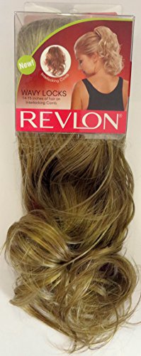 Revlon Hairpiece, Wavy Locks, Golden Blonde with Interlocking Comb… Revlon Hair Wigs