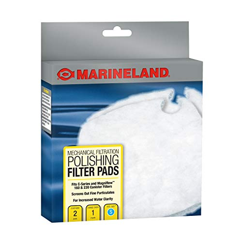 Marineland PA11480 C-160 & C-220 Canister Filter Polishing Filter Pads, 2-Pack ()