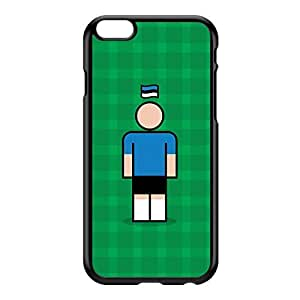 Estonia Black Hard Plastic Case for iPhone 6 Plus by Blunt Football International + FREE Crystal Clear Screen Protector