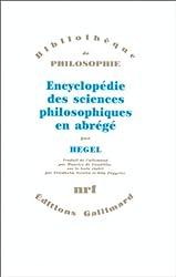 Encyclopédie des sciences philosophiques en abrégé: (1830)