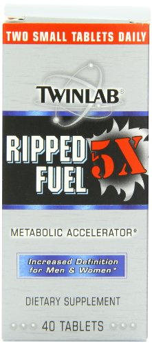 Twinlab Ripped Fuel 5X Increased Definition for Men and Women, 40 Tablets