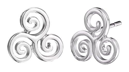 Shamrock Earings for Women Celtic Triangle Knot Earrings Luck of the Irish Trinity Jewelry Ireland Swirl