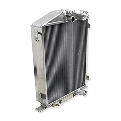 Aluminum Radiator Fit For 1932 Ford Chopped Chevy Engine 3 Row