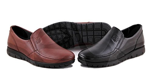 Sport Piel Burdeos Zapato 074 Comodos Caballero pzOxPdnHH
