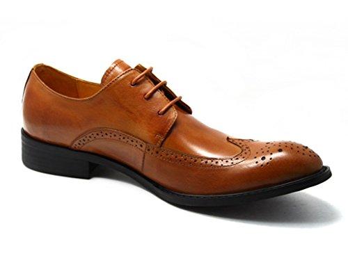 Zapatos Clásicos de Piel para Hombre Zapatos de vestir de negocios retro zapatos de los hombres del estilo británico retro ( Color : Marrón , Tamaño : EU38/UK5.5 ) Marrón