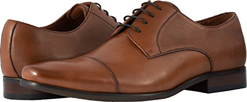 Florsheim Men's Postino Cap Toe Oxford Brandy Smooth/Perf 11 D US (Smooth Brandy)