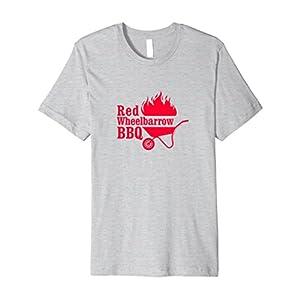 Mens Mr. Robot Red Wheelbarrow BBQ Premium T-Shirt Large Heather Grey