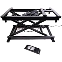 30 Electric Hydraulic Wireless Remote Control Dining Table Coffee Table lift,Black,110V-240V,Working Platform Computer Desk Electronic Scissor Lift