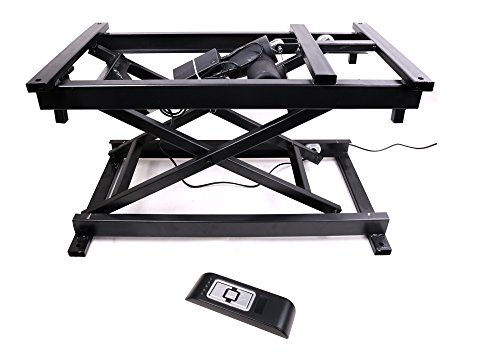Electric Lift Table (30'' Electric Hydraulic Wireless Remote Control Dining Table Coffee Table lift,Black,110V-240V,Working Platform Computer Desk Electronic Scissor Lift)