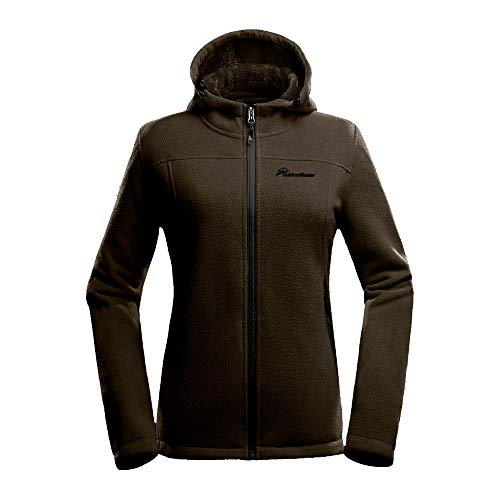OutdoorMaster Women's Fleece Jacket - Waterproof & Stain Repellent, Ultra Soft Plush Lining & Optional Hoodie - Full-Zip (Coffee Hoodie,M)