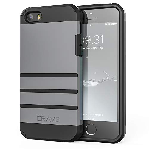 iPhone SE Case, iPhone 5s Case, Crave Strong Guard Protection Series Case for iPhone 5 5s SE - Slate