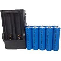 ON THE WAY®10pcs 2000mah ICR 14500 3.7V AA Rechargeable Li-ion Battery with Battery Charger