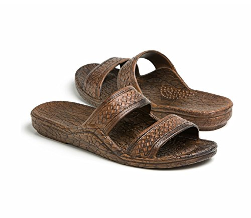 Pali Hawaii Unisex Adult Classic Jandal Sandal (Brown, 9)