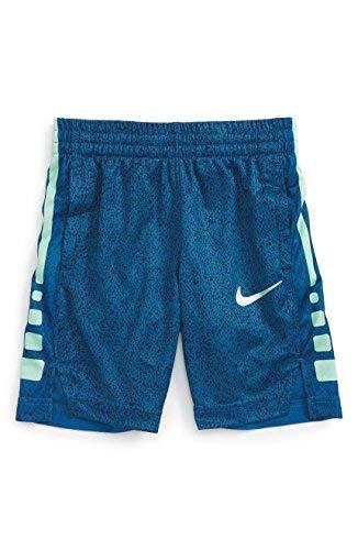 NIKE Boy's Elite Striped Shorts (6, Indusctrial Blue(86C072-U1R)/Volt)