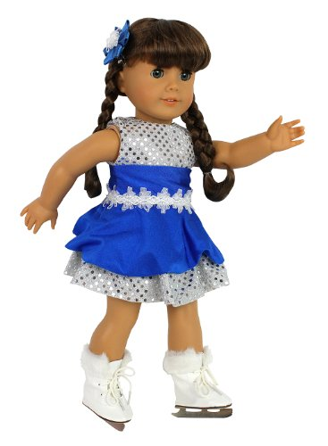 Ice Skating Doll Outfit and Skates -Doll Clothes for 18