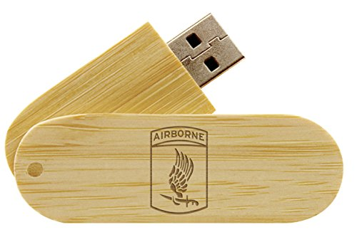 16 Gigabyte USB Flash Drive Bamboo NDZ Army 173rd Airborne Division Emblem (Division 173rd Airborne)