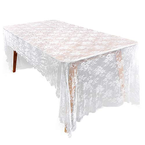 Y-Step Classic White Lace Table Runner 59x118inch Lace for sale  Delivered anywhere in Canada