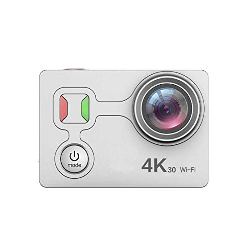 Waterproof Digital Action Camera with Touch Screen 4K/25Fps HD Video 12MP Photos Live Streaming Remote Control Sports Camera with Accessories Kit,Silver