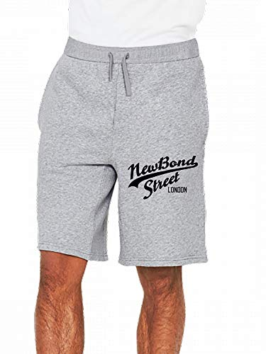 (JiJingHeWang New Bond Street London Mens Casual Shorts Pants Gray)