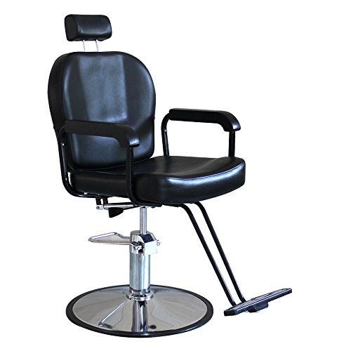 Danyel Beauty Black Color All Purpose Hydraulic Recline Barber Chair Salon Beauty Spa Hair Styling