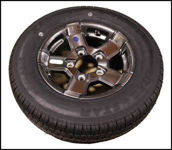 TRITON 10384 TIRE AND WHEEL ST145/R12E ALUM   by Triton