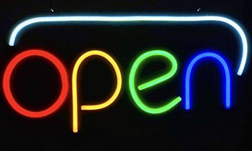 Open Sign Neon Abierto - JUMBO EXTRA LARGE 24