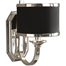 Uttermost 22442 Tuxedo Wall Sconce, Silver Plated Finish