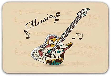 YnimioHOB Guitarra Antideslizante Alfombra de Entrada de Goma ...