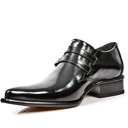 New Black 2246 Metallic Rock M Boots Black S20 Leather Biker Unisex UqFUpfZ