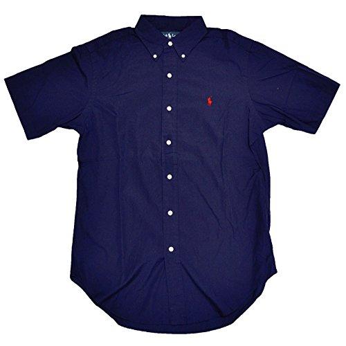 Ralph Lauren Men Classic Fit Short Sleeve Pony Logo Shirt (XXL, Newport navy)