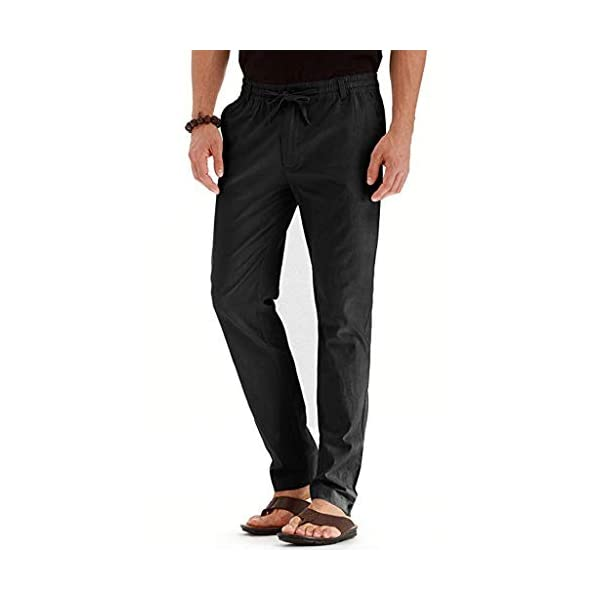 FRAUIT Pantaloni Uomo Lino Tasconi Pantaloni Ragazzo Slim Fit Elasticizzati Pantalone Uomini Casual Plus Size Oversize… 2 spesavip