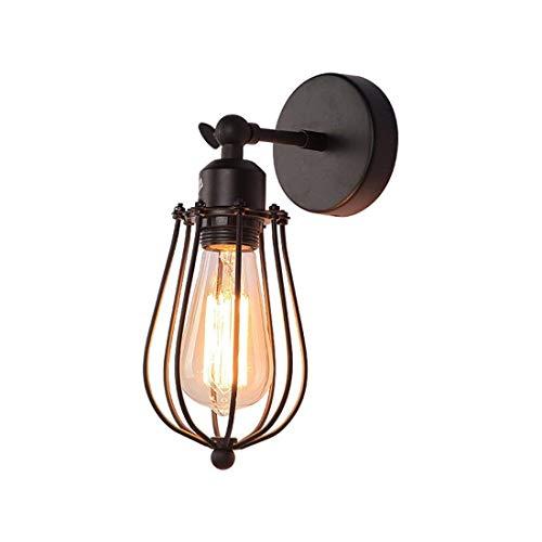 (WHKHY Loft Coffee Bar Restaurant Western Lighthouse Bar Retro Village Industrial Aisle Grease Wall Lamp, 13 34)
