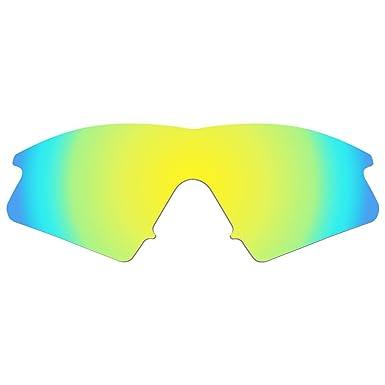 2352e627c4 Dynamix Polarized Replacement Lenses For Oakley M Frame Sweep Sunglasses -  Multiple Options (24K Gold - Polarized)  Amazon.co.uk  Clothing