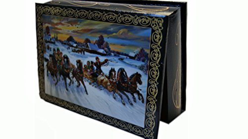 songbird Beautiful Wooden Lacquer Box for Storage a Trio of ()