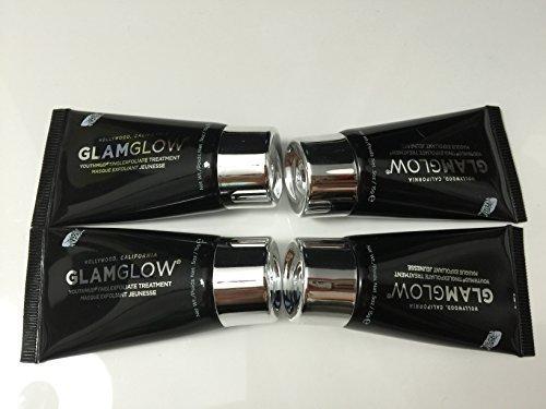 Glamglow Youthmud, Tingling & Exfoliating Mud Mask 0.5 Oz (Bulk 4-pack) by GLAMGLOW