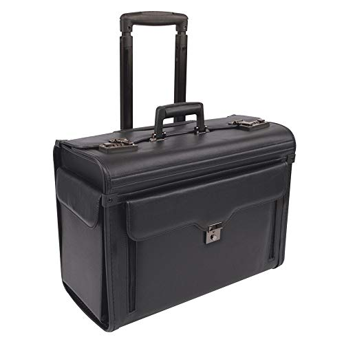 (Stebco Business Case on Wheels, Synthetic Leather, Black)
