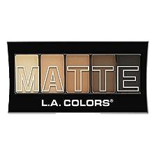 L.A. Colors Matte Eyeshadow - Brown Tweed