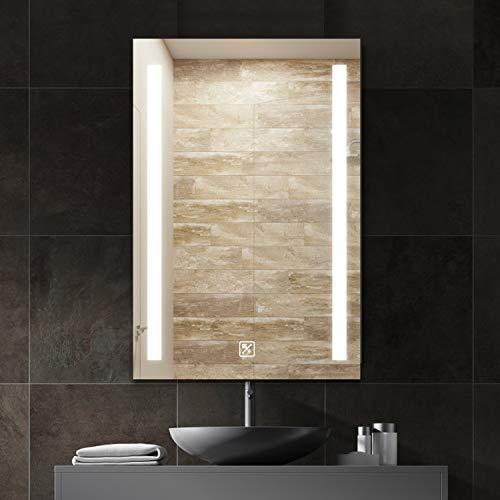 SL4U LED Bathroom Mirror, 24 x 36 Inch Lighted Wall Mounted Vanity -