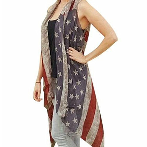 Womens American Distressed Faded Patriotic product image