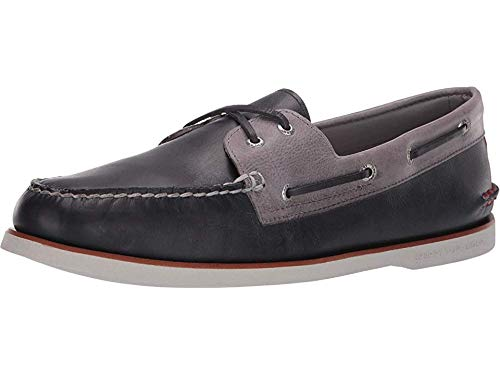 SPERRY Men's Gold Cup A/O 2-Eye Fairhaven Navy/Grey 12 W US ()