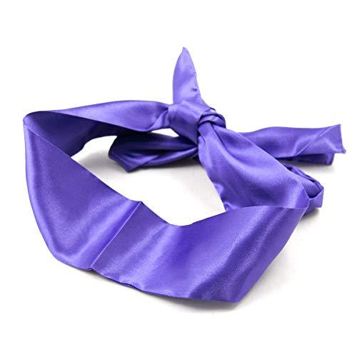 Blindfold Satin Eye Mask Soft Band Blinder Costume Sleeping Mask Sleep Mask (Purple)