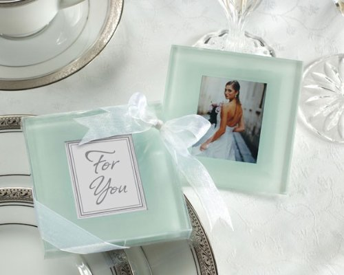 Glass Coasters Photo Frosted (Forever Photo Frosted Glass Coasters- 24 sets)
