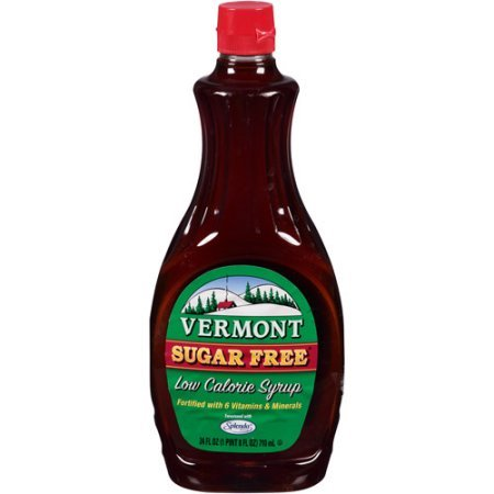 Vermont Sugar Free Syrup, 12-Ounce Bottles (Pack of 6) Vermont Sugar Free Maple Syrup
