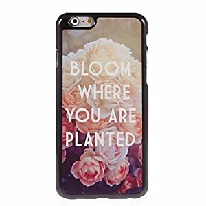 QJM Peony Design Aluminum Hard Case for iPhone 6