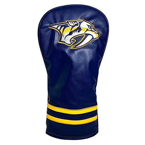 Team Golf NHL Nashville Predators Vintage Driver Golf Club Headcover, Form Fitting Design, Retro Design & Superb Embroidery