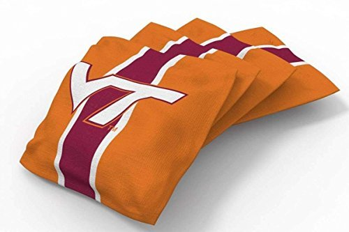 Bean Tech Virginia Bag (PROLINE 6x6 NCAA College Virginia Tech Hokies Cornhole Bean Bags - Stripe Design (B))