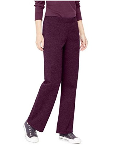 Hanes Womens Fleece Slim Fitting Pant Petit Open Leg Sweatpants S - 2xl (XXL Petite, Purple (Hanes Fitting)